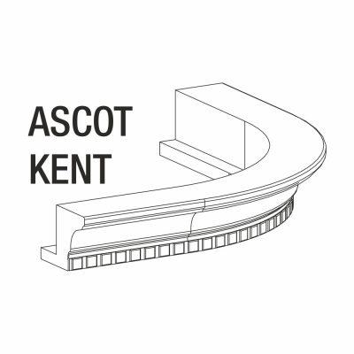 Mobilier lemn masiv - Cornișă curbată Kent-4