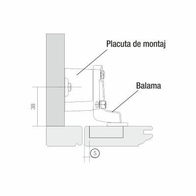Mobilier lemn masiv - Plăci de montare pentru uși - 250buc. Kent - Accesorii