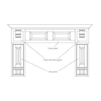 Mobilier lemn masiv - Set decorativ plită York-3