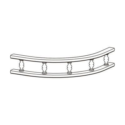 Mobilier lemn masiv - Ornament gard curbat Venetia-3
