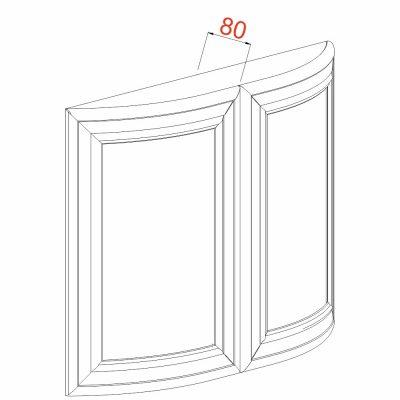 Mobilier lemn masiv - Ușă curbată (pereche) Venetia-2