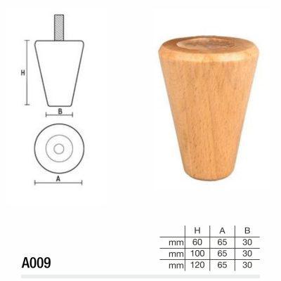 Mobilier lemn masiv - Picioare mobilier A009 Picioare mobilier