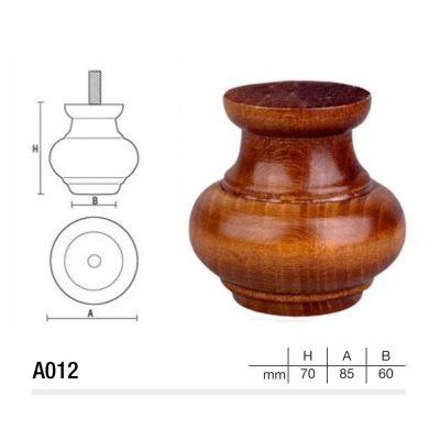 Mobilier lemn masiv - Picioare mobilier A012 Picioare mobilier