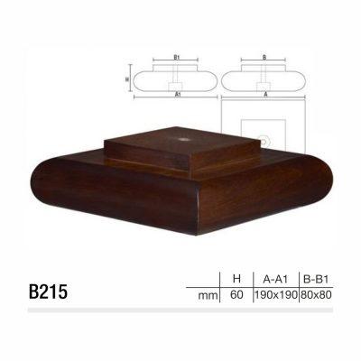 Mobilier lemn masiv - Picioare mobilier B215 Picioare mobilier
