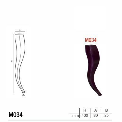 Mobilier lemn masiv - Picioare mobilier M034 Picioare mobilier