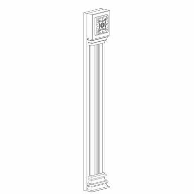 Mobilier lemn masiv - Pilastru 100mm Rialto