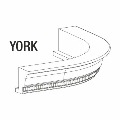 Mobilier lemn masiv - Cornișă curbată York-4
