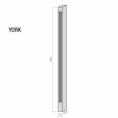 Mobilier lemn masiv - Pilastru York-3