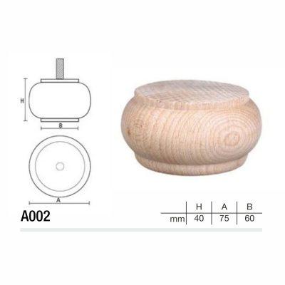 Mobilier lemn masiv - Picioare mobilier A002 Picioare mobilier