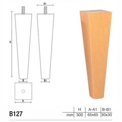 Mobilier lemn masiv - Picioare mobilier B127 Picioare mobilier
