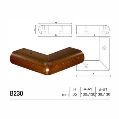 Mobilier lemn masiv - Picioare mobilier B230 Picioare mobilier