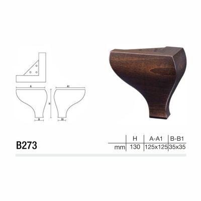 Mobilier lemn masiv - Picioare mobilier B273 Picioare mobilier